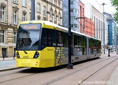 Manchester Metrolink 3092, Aytoun Street, 3rd June 2017