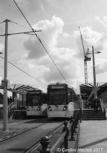Manchester Metrolink 3025 and 3061, Deansgate-Castlefield, 3rd June 2017