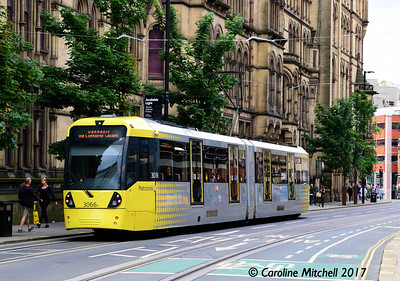 Manchester Metrolink 3066, Princess Street, 3rd June 2017