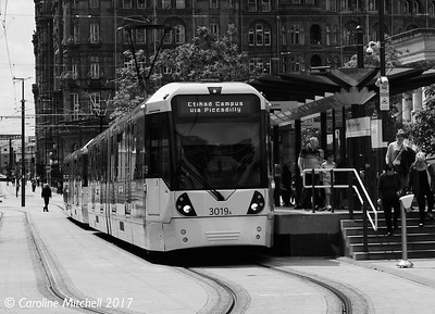 Manchester Metrolink 3019 and 3008, St Peter's Square, 3rd June 2017