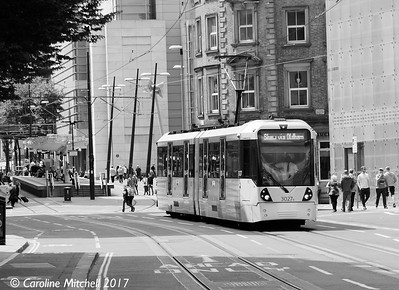 Manchester Metrolink 3027, Corporation Street, 3rd June 2017