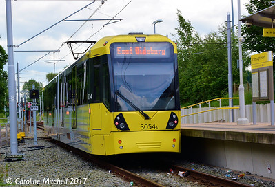 Manchester Metrolink 3054, St Werburgh's Road, 3rd June 2017