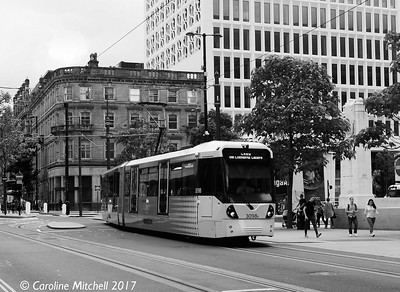Manchester Metrolink 3098, Princess Street, 3rd June 2017