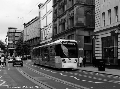 Manchester Metrolink 3035, Cross Street, 3rd June 2017