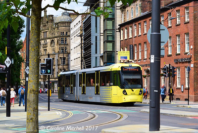Manchester Metrolink 3026, Princess Street, 3rd June 2017