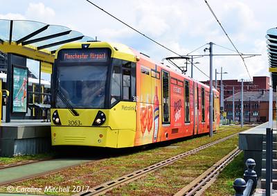 Manchester Metrolink 3063, Deansgate-Castlefield, 3rd June 2017