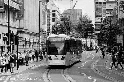 Manchester Metrolink 3073, Cross Street, 3rd June 2017