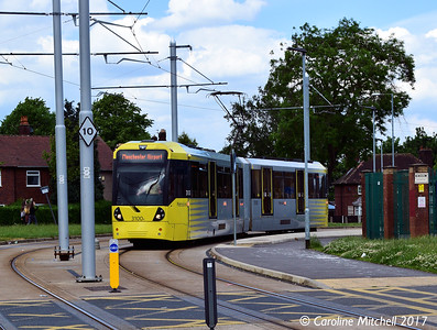Manchester Metrolink 3100, Wythenshawe Town Centre, 3rd June 2017