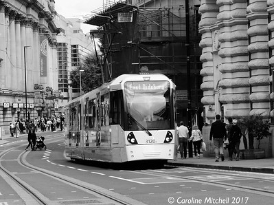 Manchester Metrolink 3120, Cross Street, 3rd June 2017