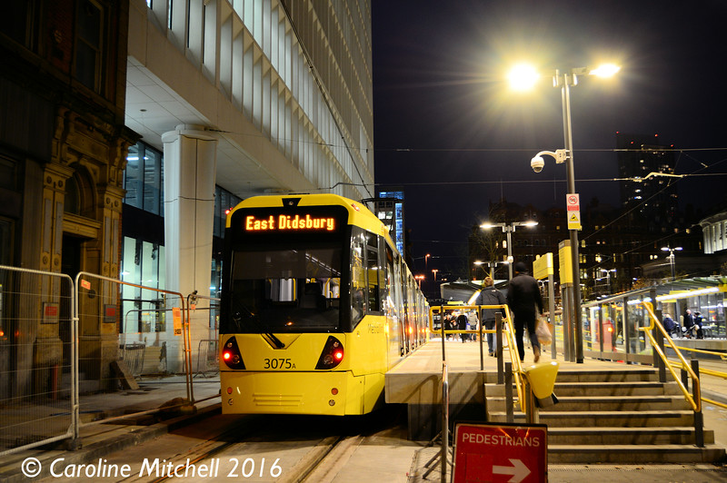 Metrolink 3075, St Peter's Square, 3rd December 2016