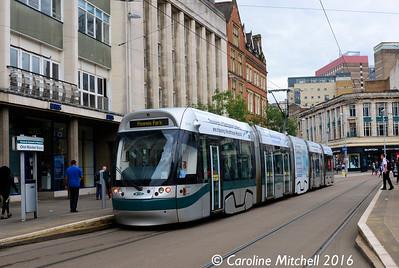 Nottingham Express Transit 204, Old Market Square, Nottingham, 9th September 2016