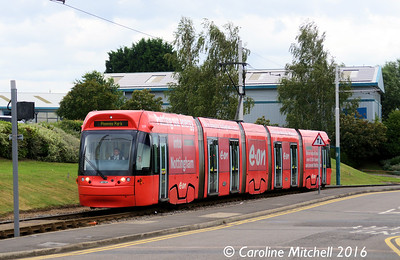 Nottingham Express Transit 206, Phoenix Park, Nottingham, 9th September 2016