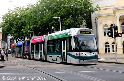 Nottingham Express Transit 207, Royal Centre, Nottingham, 9th September 2016