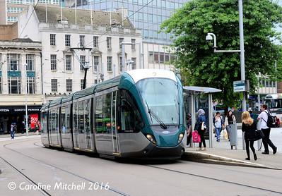 Nottingham Express Transit 229, Old Market Square, Nottingham, 9th September 2016