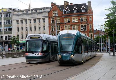 Nottingham Express Transit 210 and 226, Nottingham, 9th September 2016