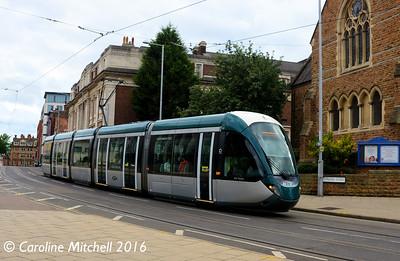 Nottingham Express Transit 218, Goldsmith Street, Nottingham, 9th September 2016