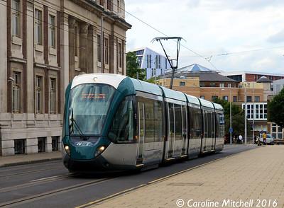 Nottingham Express Transit 231, Goldsmith Street, Nottingham, 9th September 2016