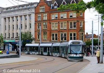 Nottingham Express Transit 215, Old Market Square, Nottingham, 9th September 2016
