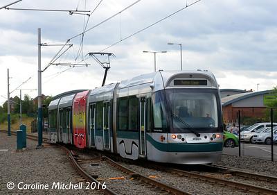 Nottingham Express Transit 201, Hucknall, 9th September 2016
