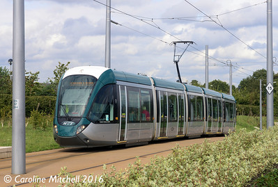 Nottingham Express Transit 223, Clifton South, Nottingham, 9th September 2016
