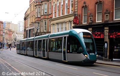 Nottingham Express Transit 232, Victoria Street, Nottingham, 9th September 2016