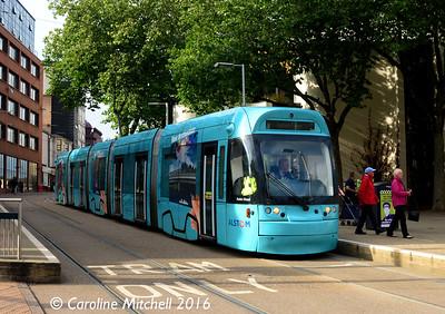Nottingham Express Transit 211, Nottingham, 9th September 2016