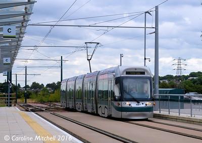 Nottingham Express Transit 213, Toton Lane, 9th September 2016