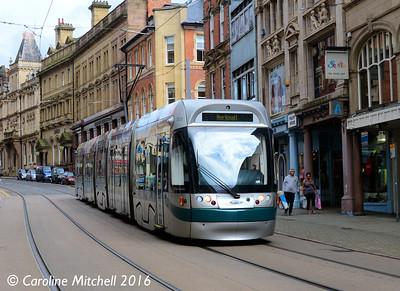 Nottingham Express Transit 212, Poultry, Nottingham, 9th September 2016