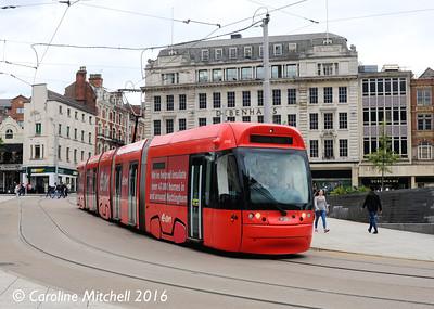 Nottingham Express Transit 206, Nottingham, 9th September 2016