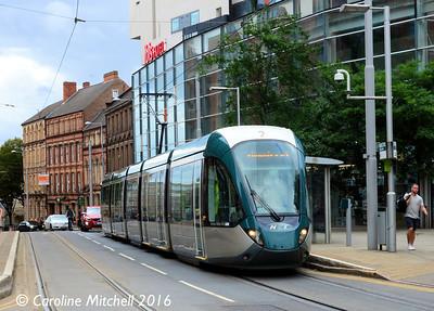 Nottingham Express Transit 222, Lace Market, Nottingham, 9th September 2016