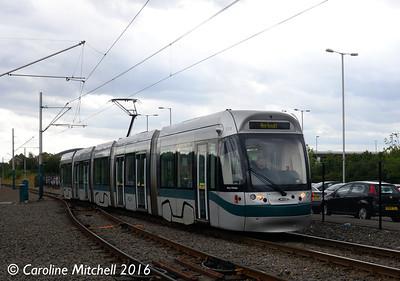 Nottingham Express Transit 213, Hucknall, 9th September 2016