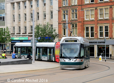 Nottingham Express Transit 201, Old Market Square, Nottingham, 9th September 2016