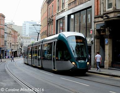 Nottingham Express Transit 221, Victoria Street, Nottingham, 9th September 2016