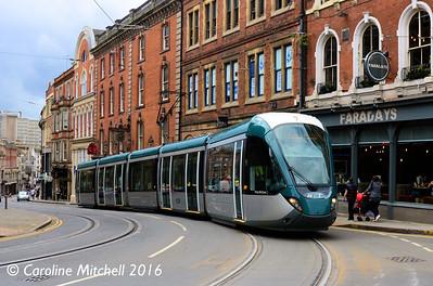 Nottingham Express Transit 224, Victoria Street, Nottingham, 9th September 2016