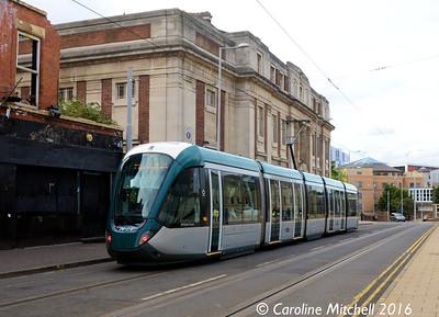 Nottingham Express Transit 232, Goldsmith Street, Nottingham, 9th September 2016