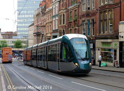 Nottingham Express Transit 216, Market Street, Nottingham, 9th September 2016