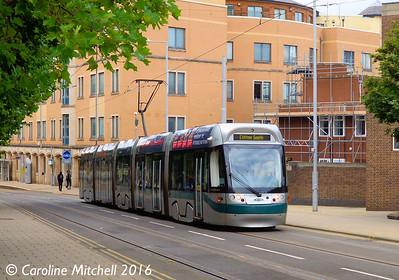 Nottingham Express Transit 204, Goldsmith Street, Nottingham, 9th September 2016