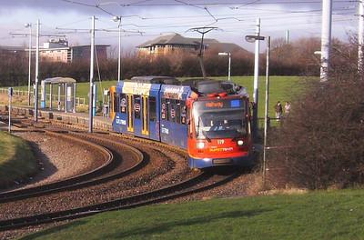 036: On 22nd December 2008 119 is seen leaving the Crystal Peaks stop en route for Halfway.