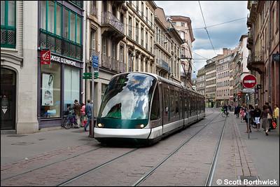 1023 works a Line F service to Elsau on 16/07/2012.
