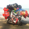 Inflatable Toys seller, Pak Meng Beach,Trang, Thailand