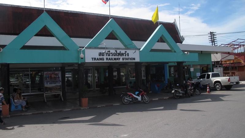 Trang Railway Station exterior.