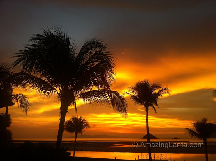 Changlang Beach Sunset seen from Anantara Si Kao Resort, Trang, Thailand