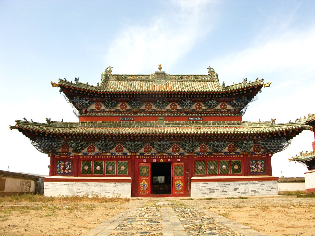 Erdene Zuu Monastery in the Orkhon Valley, site of the from great city of Karakorum.