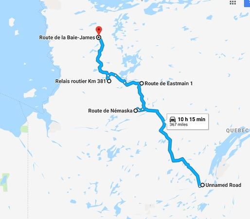 Riding the Most Remote Road in North America, Trans Taiga Rd Route%20day%202-M