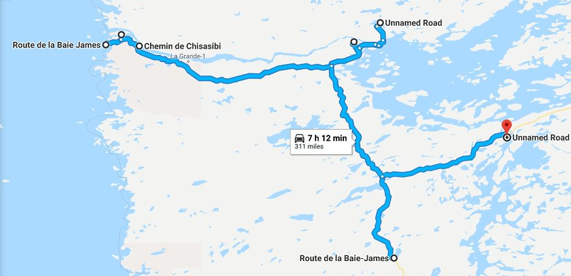 Riding the Most Remote Road in North America, Trans Taiga Rd Route%20day%203-L