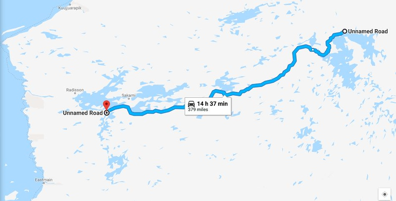 Riding the Most Remote Road in North America, Trans Taiga Rd Route%20day%204-L