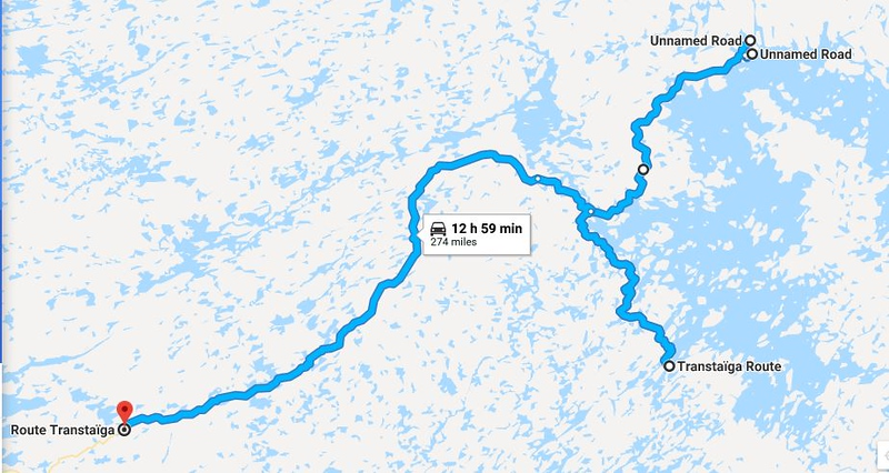 Riding the Most Remote Road in North America, Trans Taiga Rd Route%20day%205-L