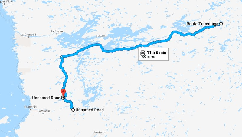 Riding the Most Remote Road in North America, Trans Taiga Rd Route%20day%206-L