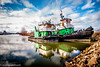 Tugboats docked for the winter in Benton Harbor