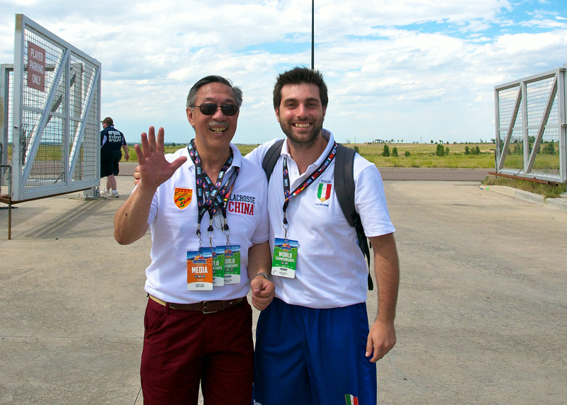 Charles Tsiang with Fabio Antonelli of Team Italy. Last time that they met was in Beijing in the summer of 2012.